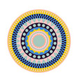 round tribal rug with colorful shapes vector image