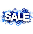 Sale background with blue snowflakes vector image vector image