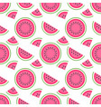 seamless pattern with pieces sweeet watermelon vector image vector image