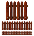 Seamless wooden fence vector image