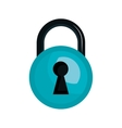 security lock with keyhole vector image vector image