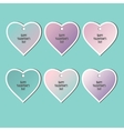 Set of stickers Valentines Day vector image vector image