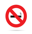 sign for no smoking vector image vector image