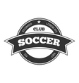 Soccer logo badge template isolated in