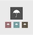 umbrella icon simple vector image