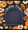 watercolor hipsterr blackboard with christmas vector image vector image