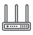 wifi router line icon network and connection vector image vector image