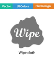 Wipe cloth icon vector image