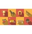 Flat Style Horse Icons vector image