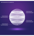 glass sphere infographic vector image