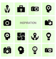 14 inspiration icons vector image vector image