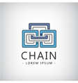 abstract chain 3 parts icon vector image vector image