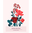 amore red roses romantic flower card nature vector image vector image
