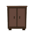 antique wooden closeth vector image vector image
