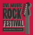 banner for rock festival live music vector image