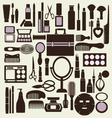beauty pattern makeup cosmetic vector image vector image