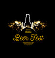 beer fest splash of beer with bubbles on a black vector image vector image