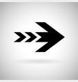 black arrow fast speed sign