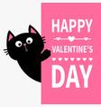 black cat holding big signboard cute cartoon vector image vector image