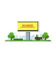 blank city billboard on background summer vector image