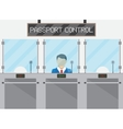 Border control concept immigration officer vector image vector image