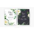 botanical floral wedding invite save date crad vector image