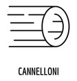 cannelloni pasta icon outline style vector image vector image