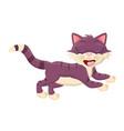 cartoon cat with closed eyes symbol icon design vector image vector image