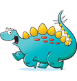 Cartoon Running Stegosaurus vector image vector image