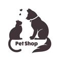 Cat and dog signs and logo vector image vector image