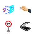 chemistry parking and other web icon in cartoon vector image vector image