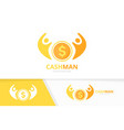 coin and people logo combination money and vector image vector image