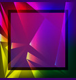 colorful geometric background triangular polygons vector image vector image