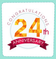 colorful polygonal anniversary logo 3 024 vector image vector image