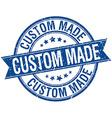 custom made grunge retro blue isolated ribbon vector image vector image