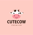 cute cow flat logo icon vector image vector image