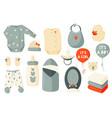 cute set clothes for newborns children decor vector image vector image
