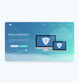 data protection privacy internet security vector image vector image