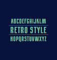 decorative sans serif font with interweaving vector image vector image