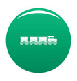 electric train icon green vector image