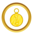First position cold medal icon vector image vector image