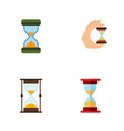 flat icon timer set of sandglass loading vector image