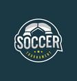 football soccer logo sport emblem vector image vector image