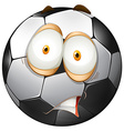 Football with shocking face vector image