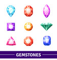 gemstones icons set vector image vector image