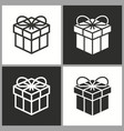 gift box surprise icon birthday present vector image