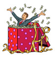 gift businessman with money vector image vector image
