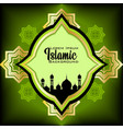 green islamic style background and patern simple vector image