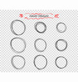 hand drawn black round doodle lines vector image vector image