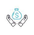 high profitability thin line stroke icon vector image vector image